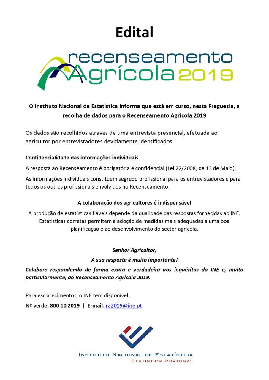 RECENSEAMENTO AGRICULA 2019